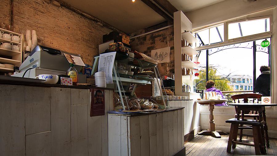 Cafe im Stables Market Camdon
