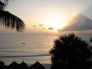 Sonnenaufgang am Diani Beach