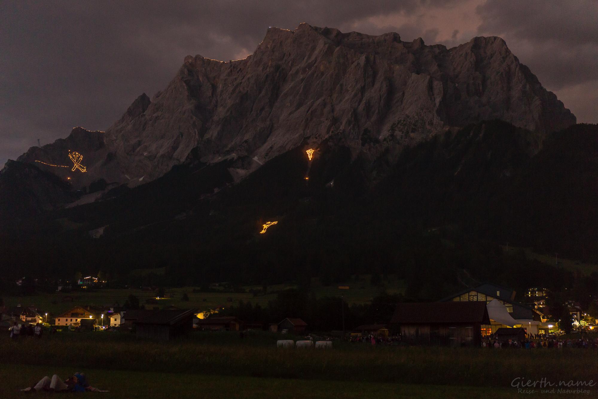 Die Bergfeuer leuchteten auch 2017 wieder
