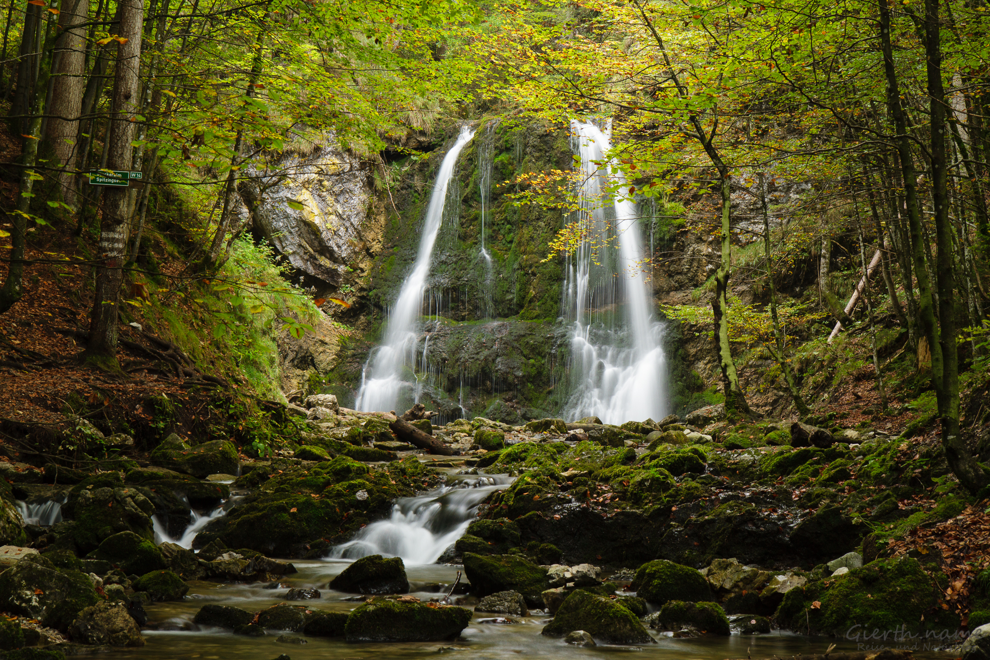 Josefsthaler Wasserfälle, untere Stufe