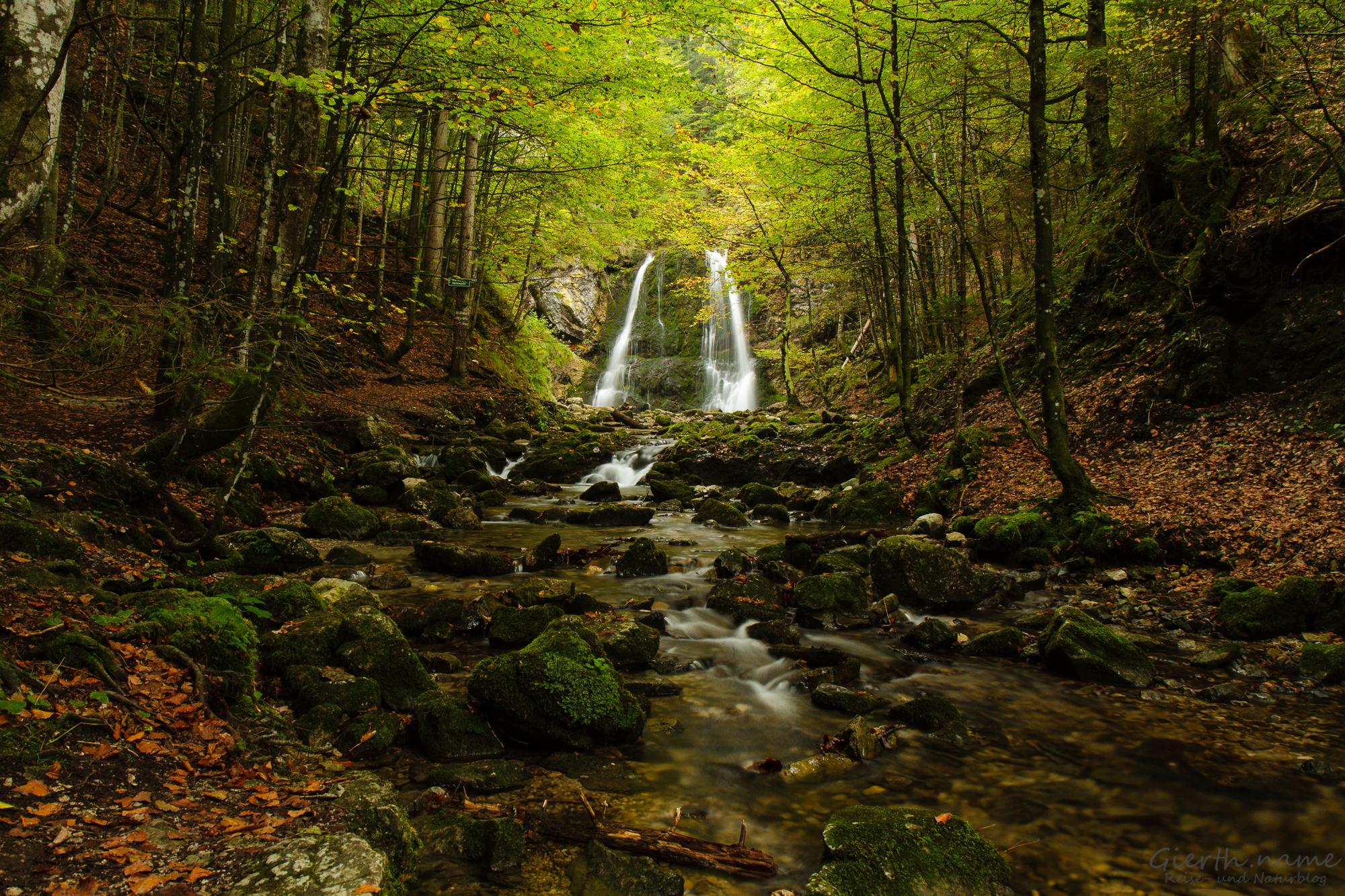 Josefsthaler Wasserfälle bei Niedrigwasser