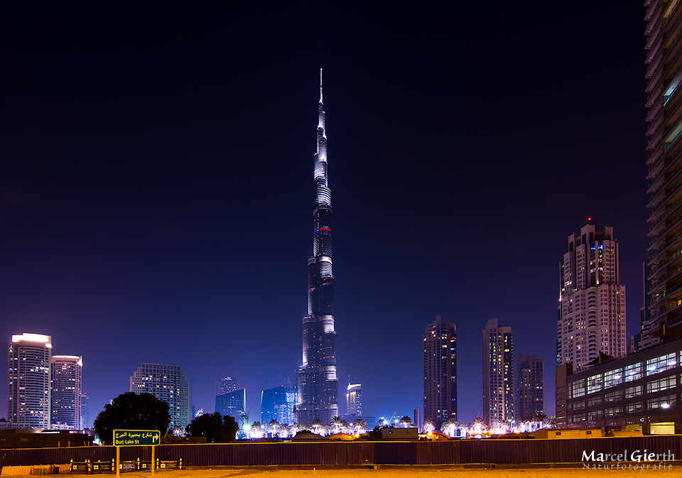 Burj Khalifa by night