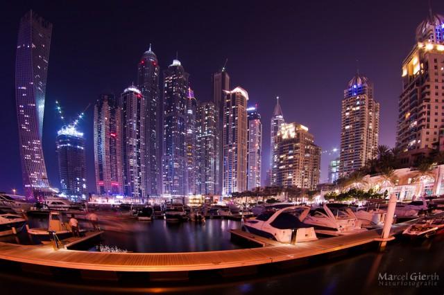 Dubai Marina (Fish-Eye-Aufnahme)