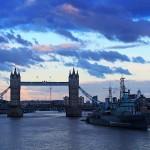 Blick von Londonbridge auf Towerbridge