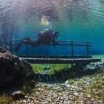 Brücke mit Alex im Grünen See